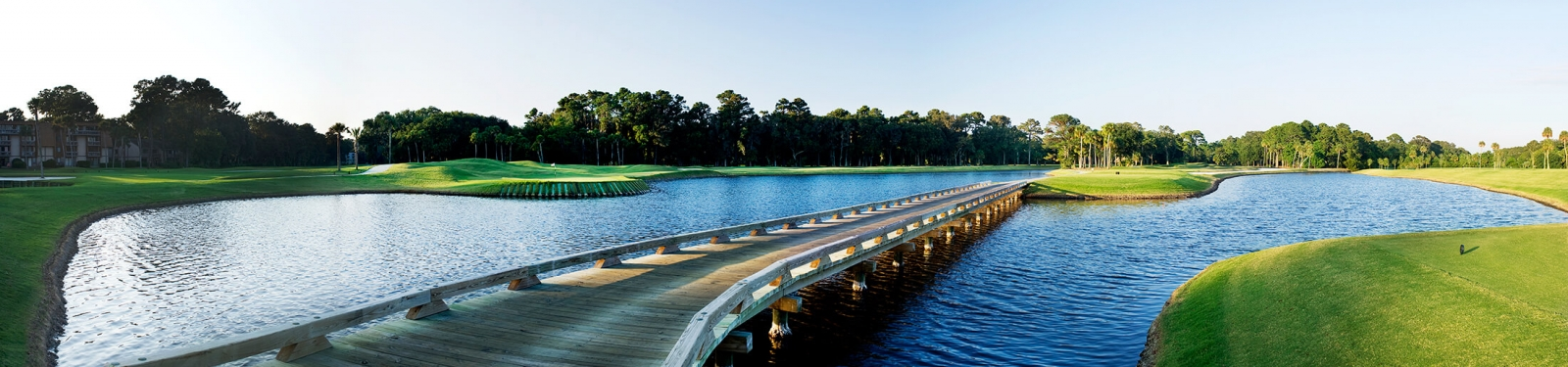Bridges over the water at Pete Dye course, Palmetto Dunes