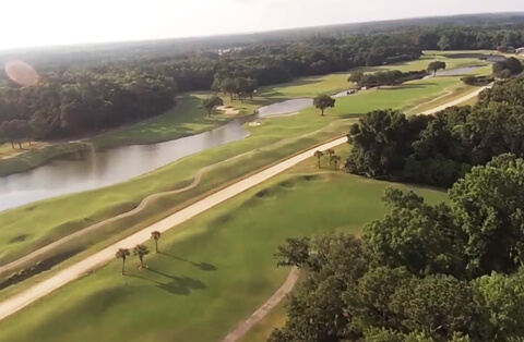 Aerial view of Old South Golf Links