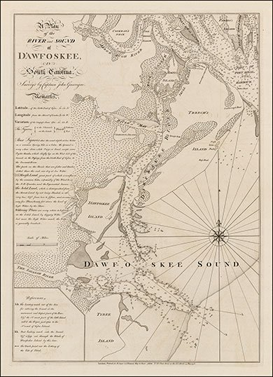 Old map of D'awfoskee Island