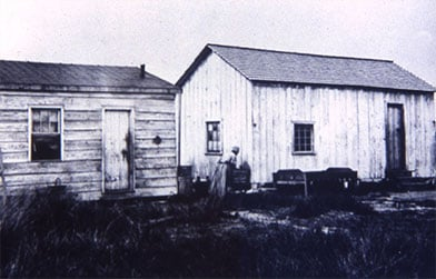 Houses in Freemans Village circa 1862