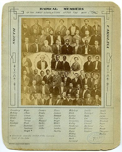 Poster showing the Radical Members
