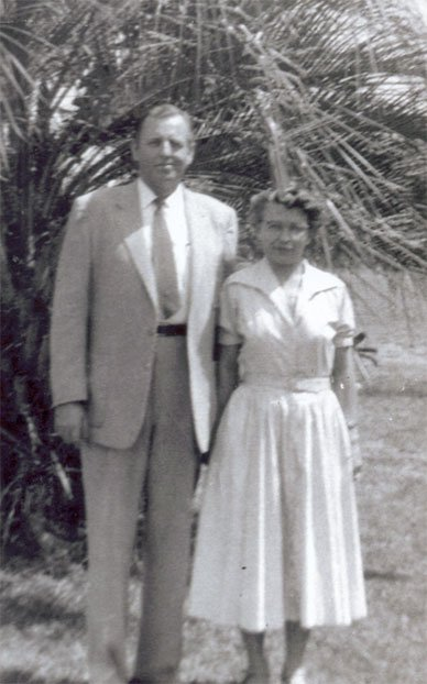 Fred Hack and his wife circa 1948