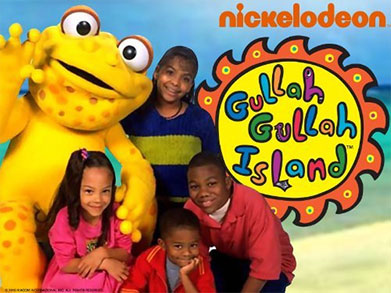 Gullah Gullah Island kids and mascot
