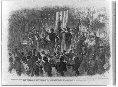 Gullah celebrating the 13th Amendment passing by President Lincoin