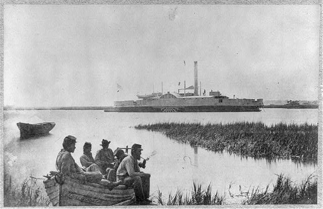 Gunboat Commodore McDonough Hilton Head Union Soldiers
