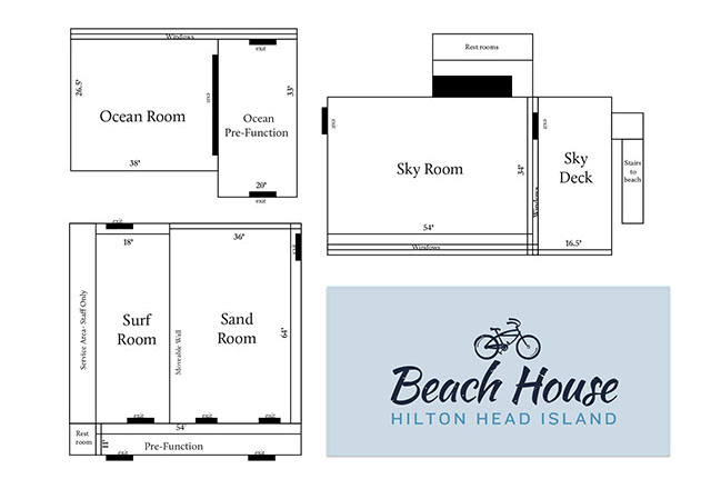 Beach House Meeting Facilities Floor Plan