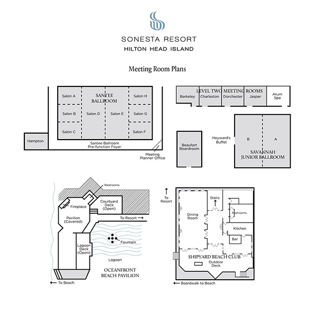 Sonesta Meeting Facilities Floor Plan