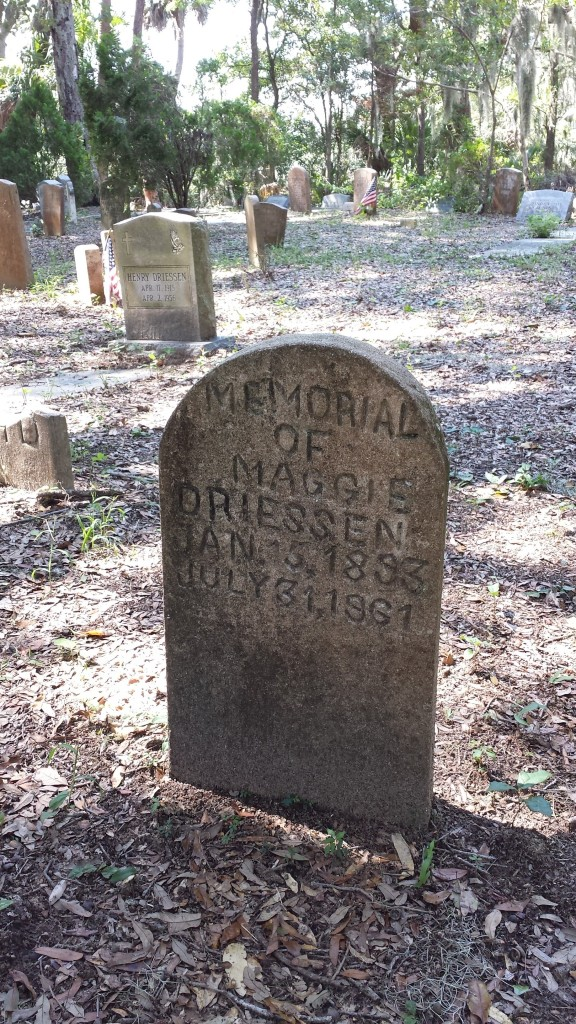 Gravestone at Amelia White Cemetery