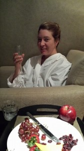 My best friend Andrea from Wyoming during our spa day