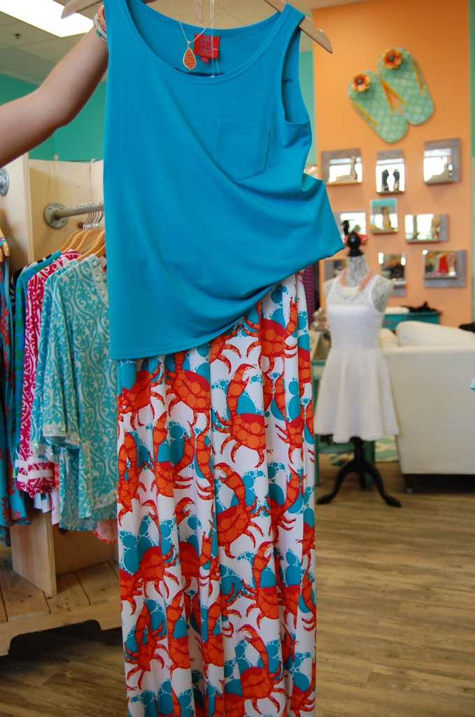 "An outfit with ""party"" pants at Coastal Bliss."