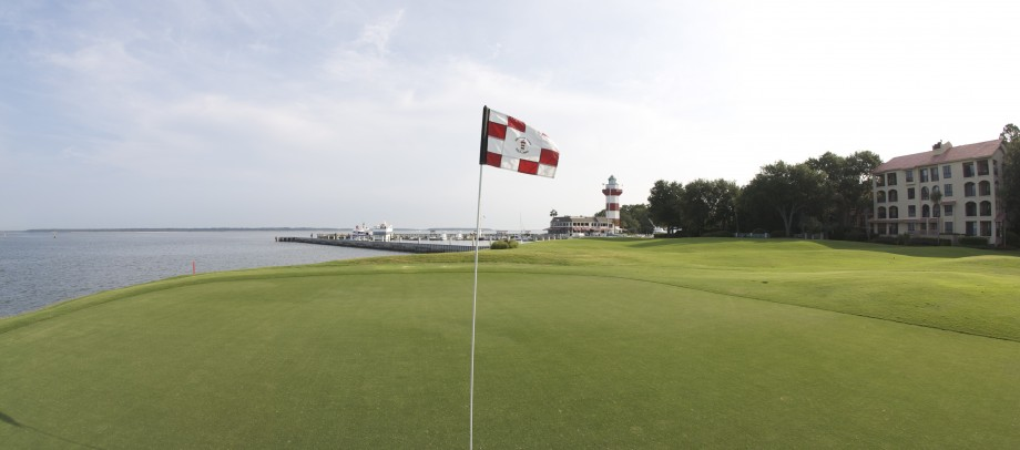 The 18th at Harbour Town from the 17th tee. What a finish!!