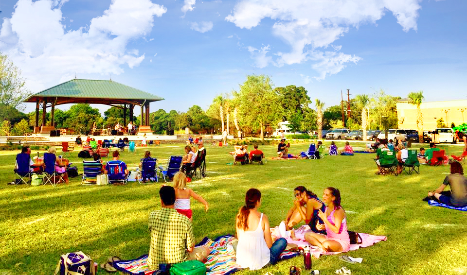 Grab a picnic dinner and enjoy your friends and family out on the lawn!