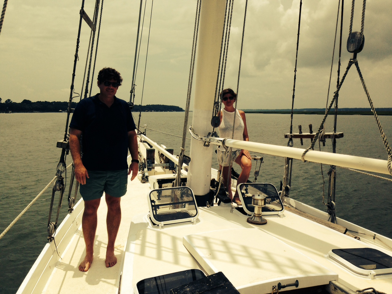 Andrew and I sailing