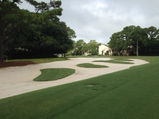 New 'church pew' bunkers offer a 'prayer' at Harbour Town's 16th.