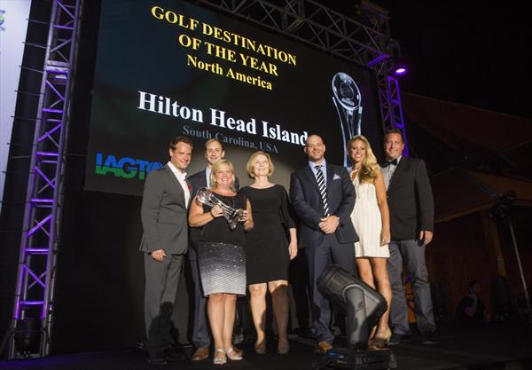 "Palmetto Dunes team accepts IAGTO ""Destination of the Year"" award in Tenerife, Spain"