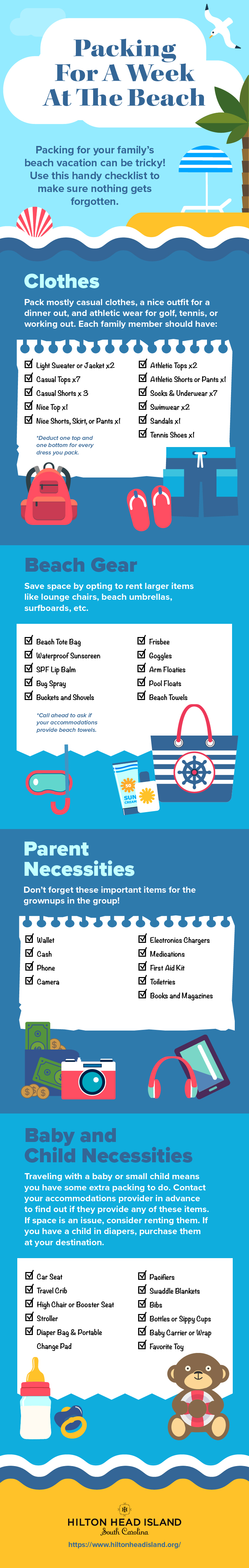 Infographic: How to Pack for Your Family Beach Vacation