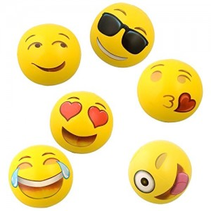 Have fun at the beach this summer with Emoji beach balls.