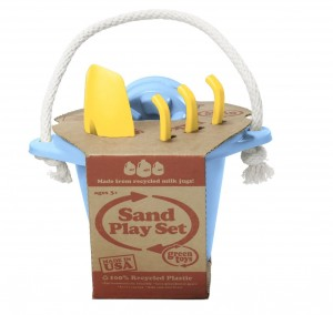 Build sandcastles at the beach with a kit like this one.