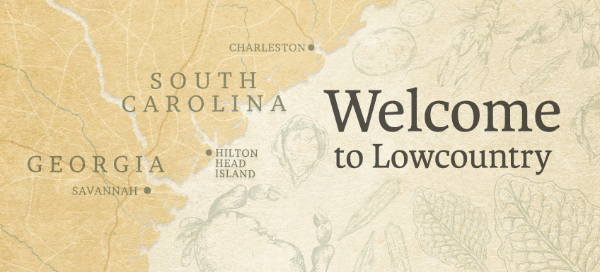 Map of the Lowcountry Region