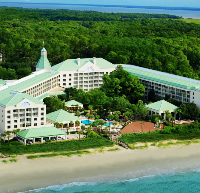 Aerial view of Westin Hilton Head