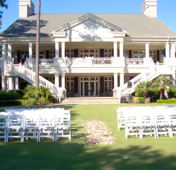 Palmetto Hall Clubhouse front entrance