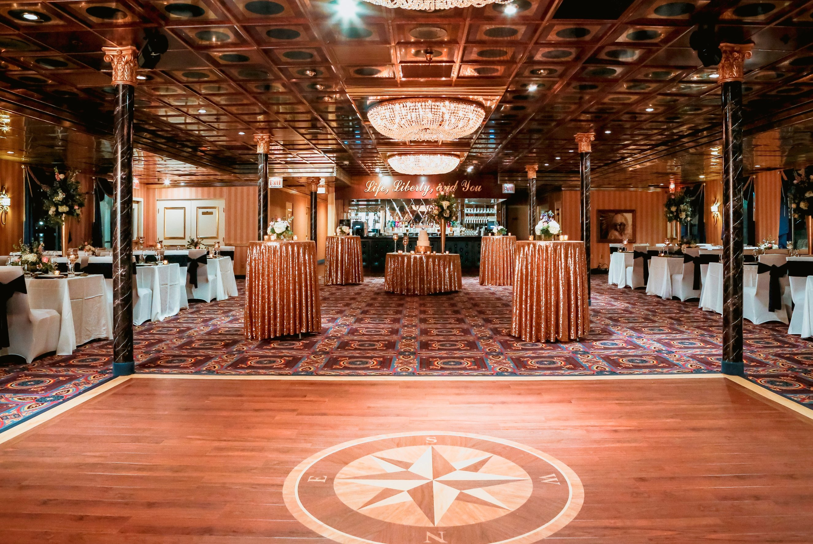 Elegantly appointed ballrooms make it easy to decorate for a gorgeous recepetion!