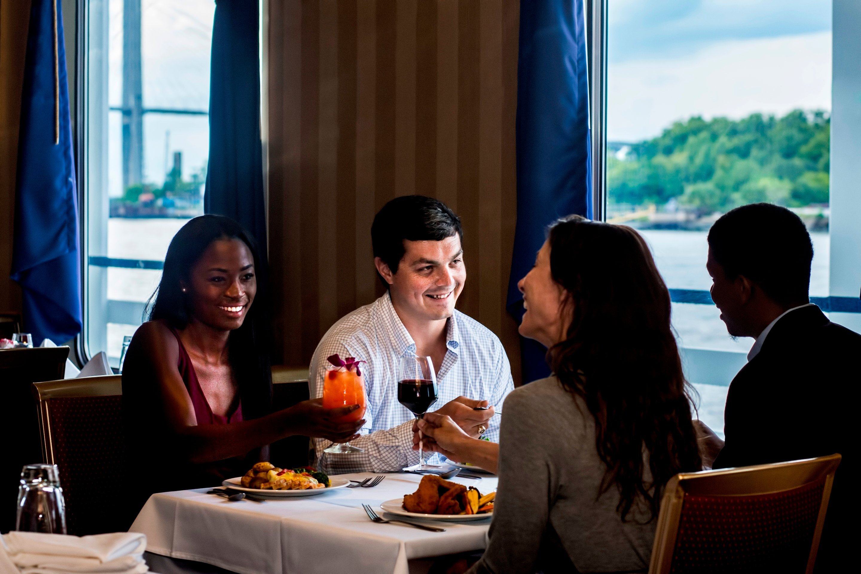 Dine with friends and family as you cruise the historic Savannah River!