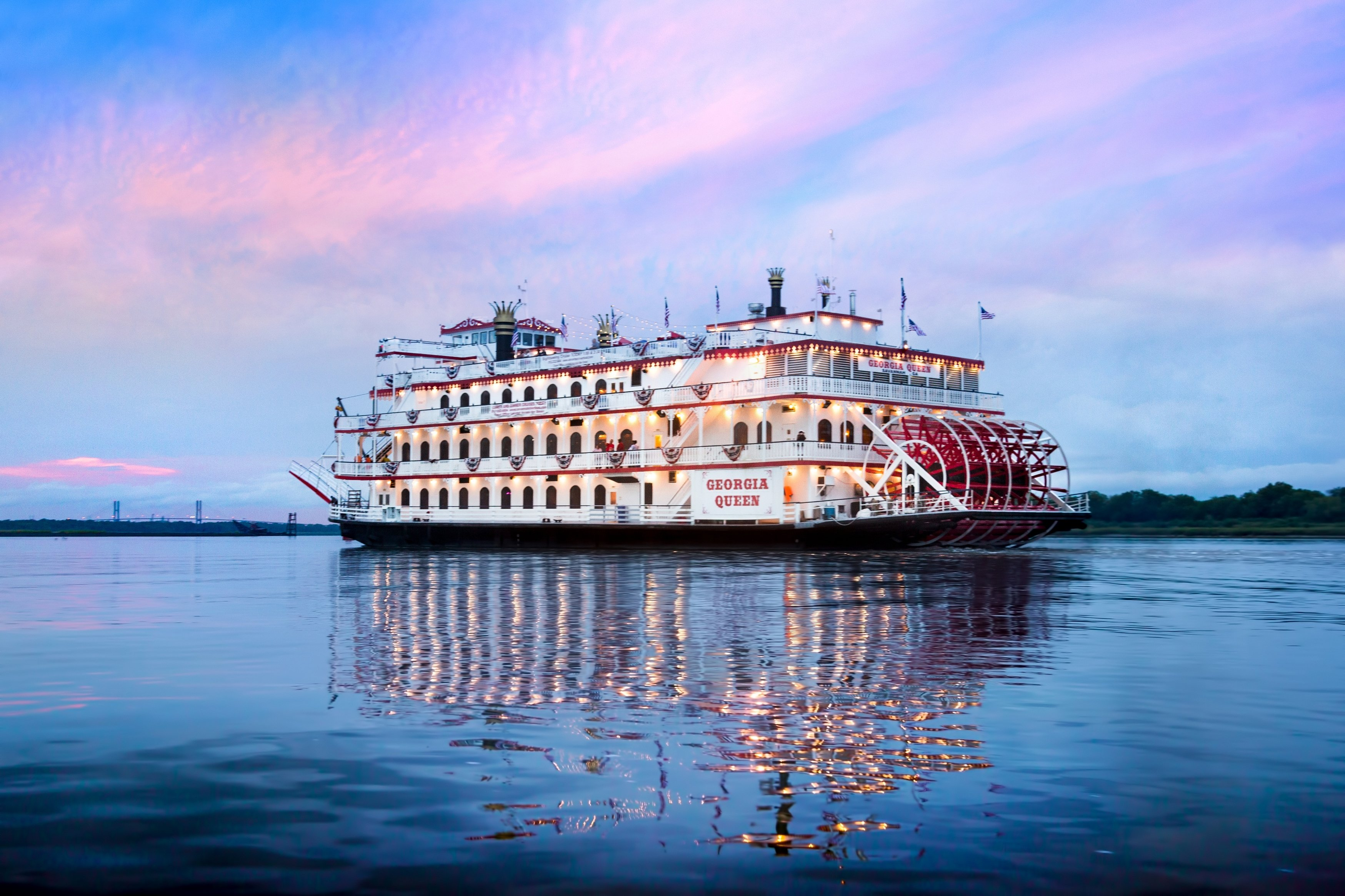 Sunsets are breathtaking while slowly cruising along the Savannah River!