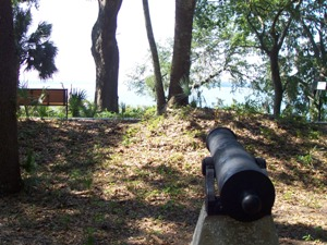 Canons positioned to overlook Skull Creek