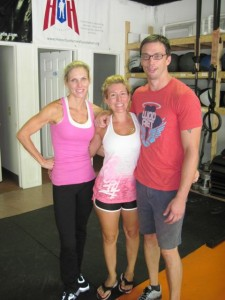BootCampers Alice Batson and Dayna Muggeo with Craig Hysell