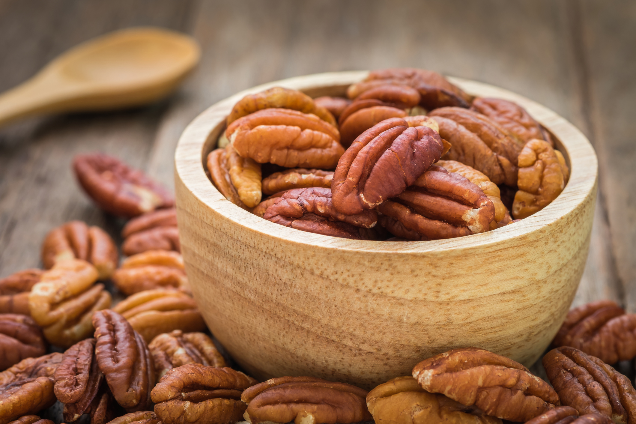 Small bowl of pecans