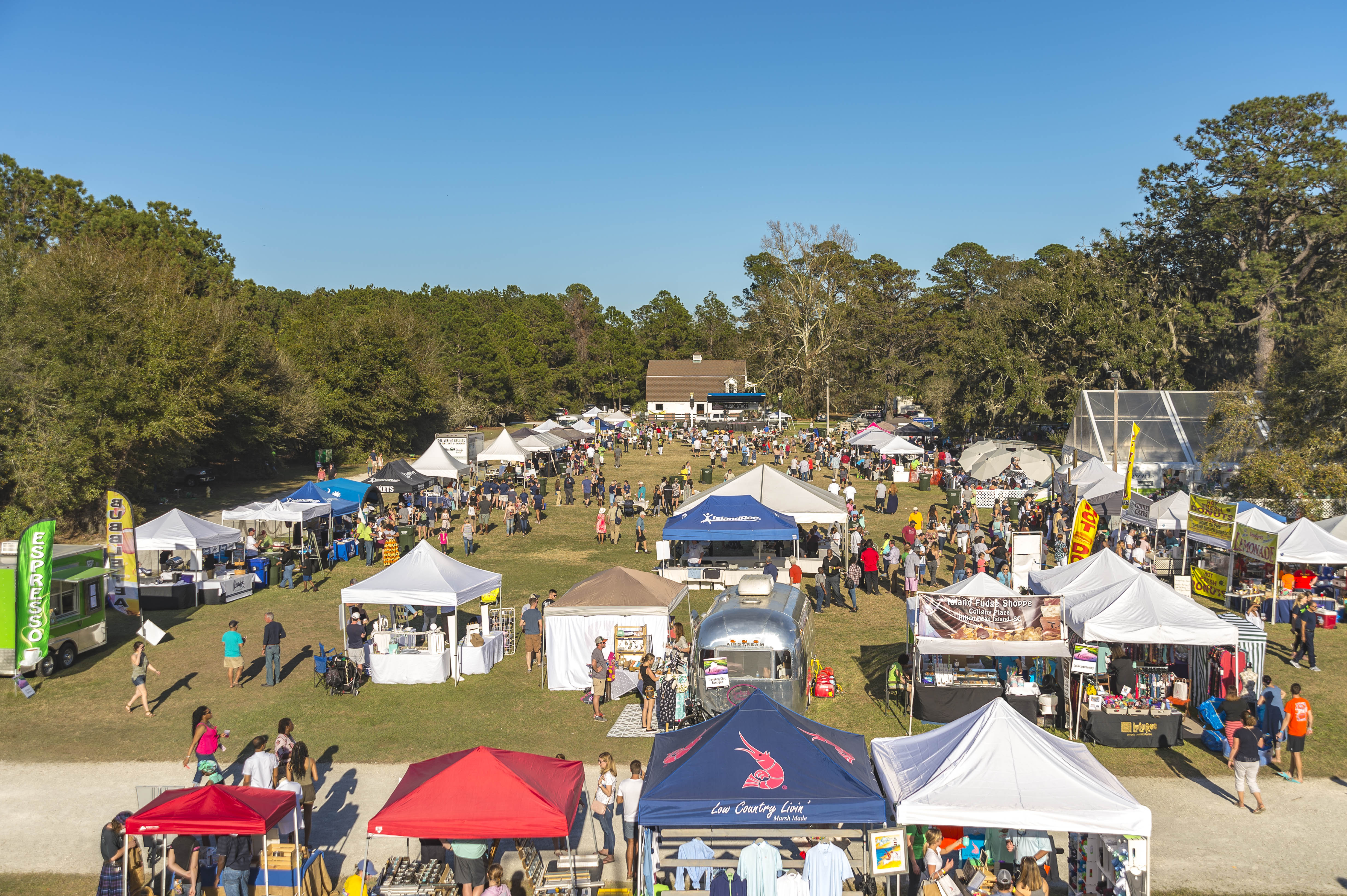 Aerial view of Seafood Festival