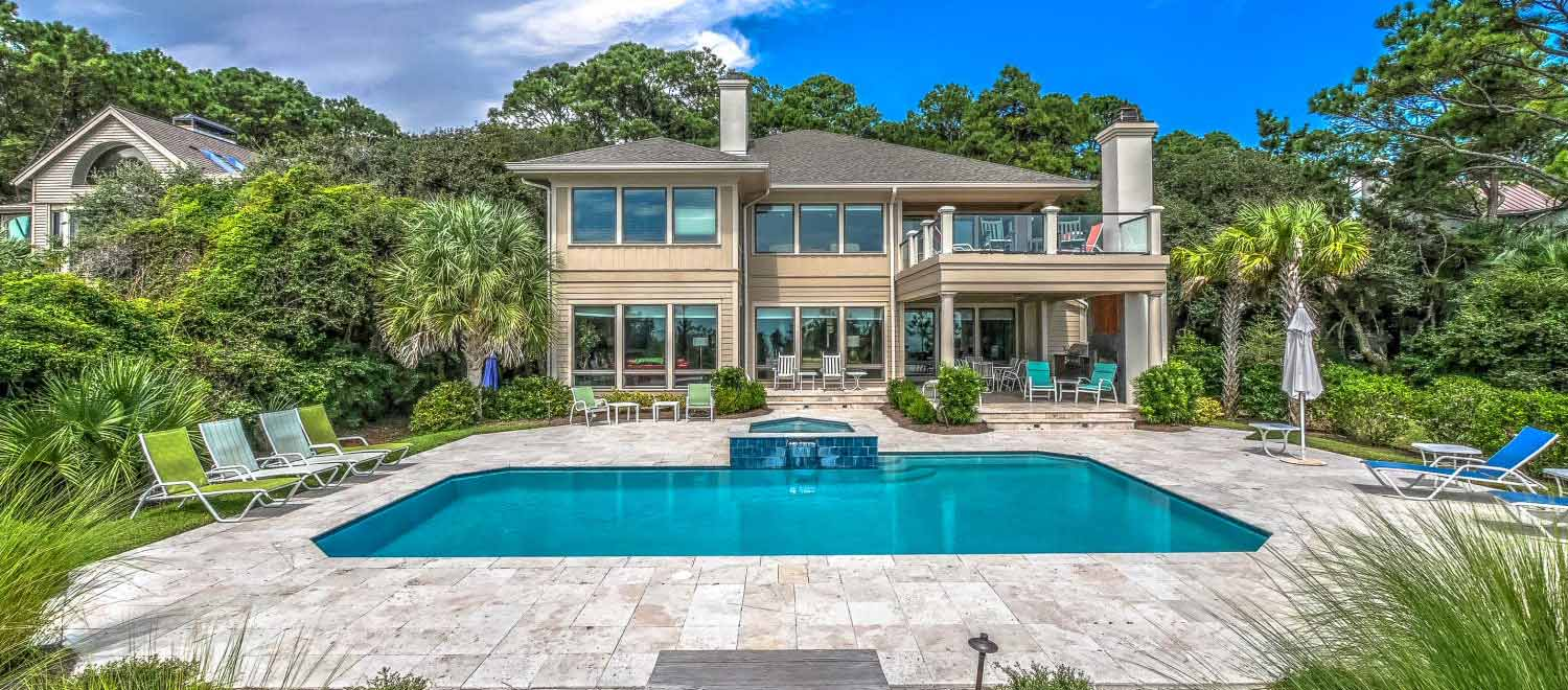 Vacation home rental with a pool in Hilton Head Island by Resort Rentals