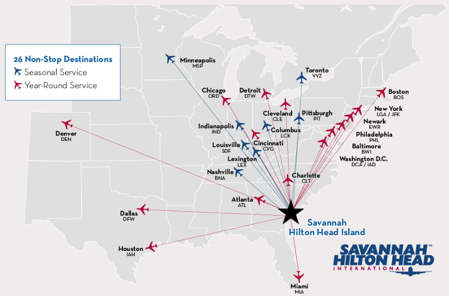 Airports In Nc Map.Getting To Hilton Head Island Sc Maps Flights More
