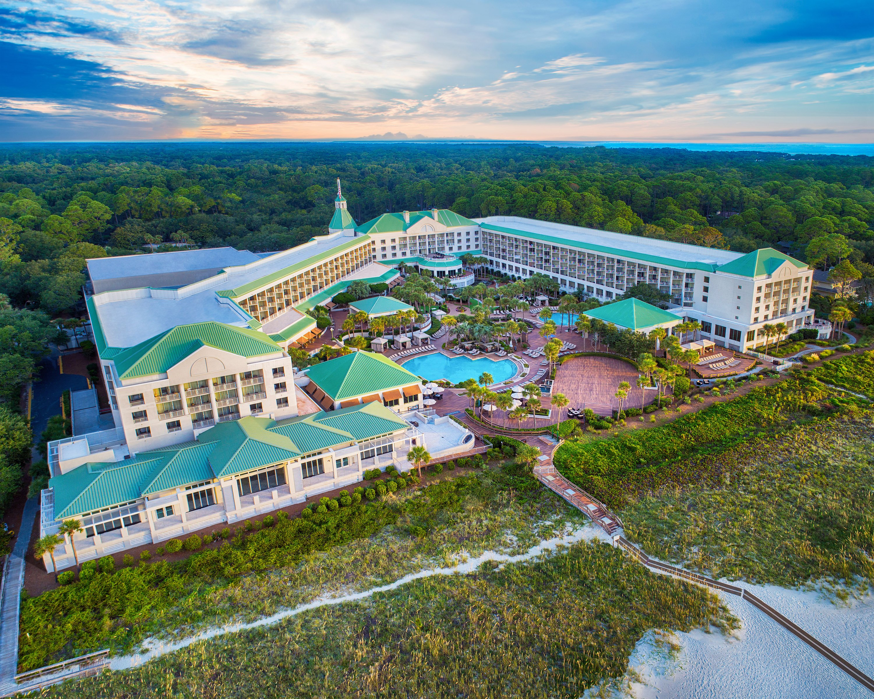 Bird's eye view of the Westin Hilton Head Island Resort & Spa