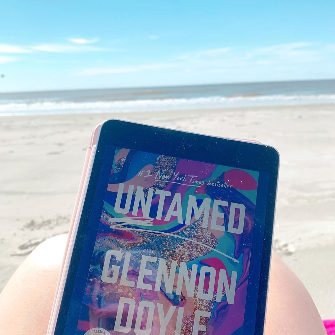 'Untamed' by Glennon Doyle is displayed on an e-reader