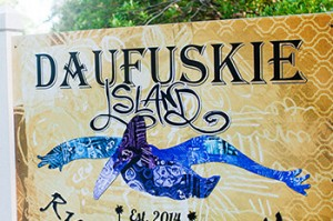 Daufuskie Island Rum Co. sign