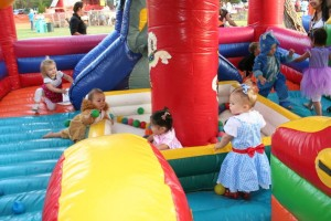 Children and a bouncy house