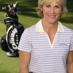 Women with golf bag