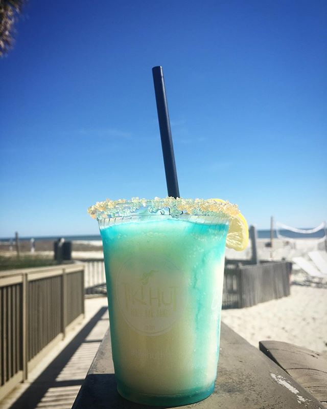 Frozen cocktail on the beach./