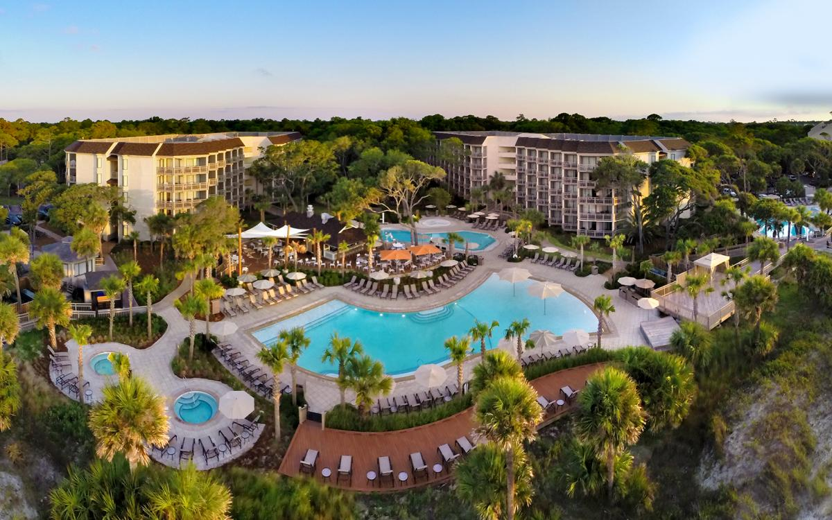 omni resort hilton head exterior pools