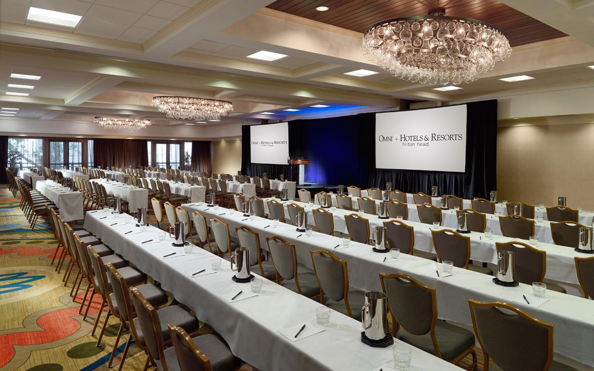 Palmetto Ballroom Meeting Space at Omni Hilton Head