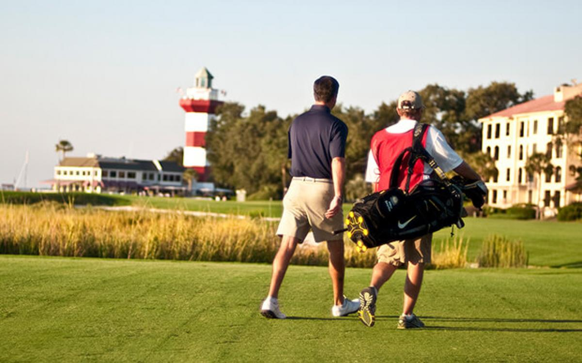Golfers on Hilton Head island