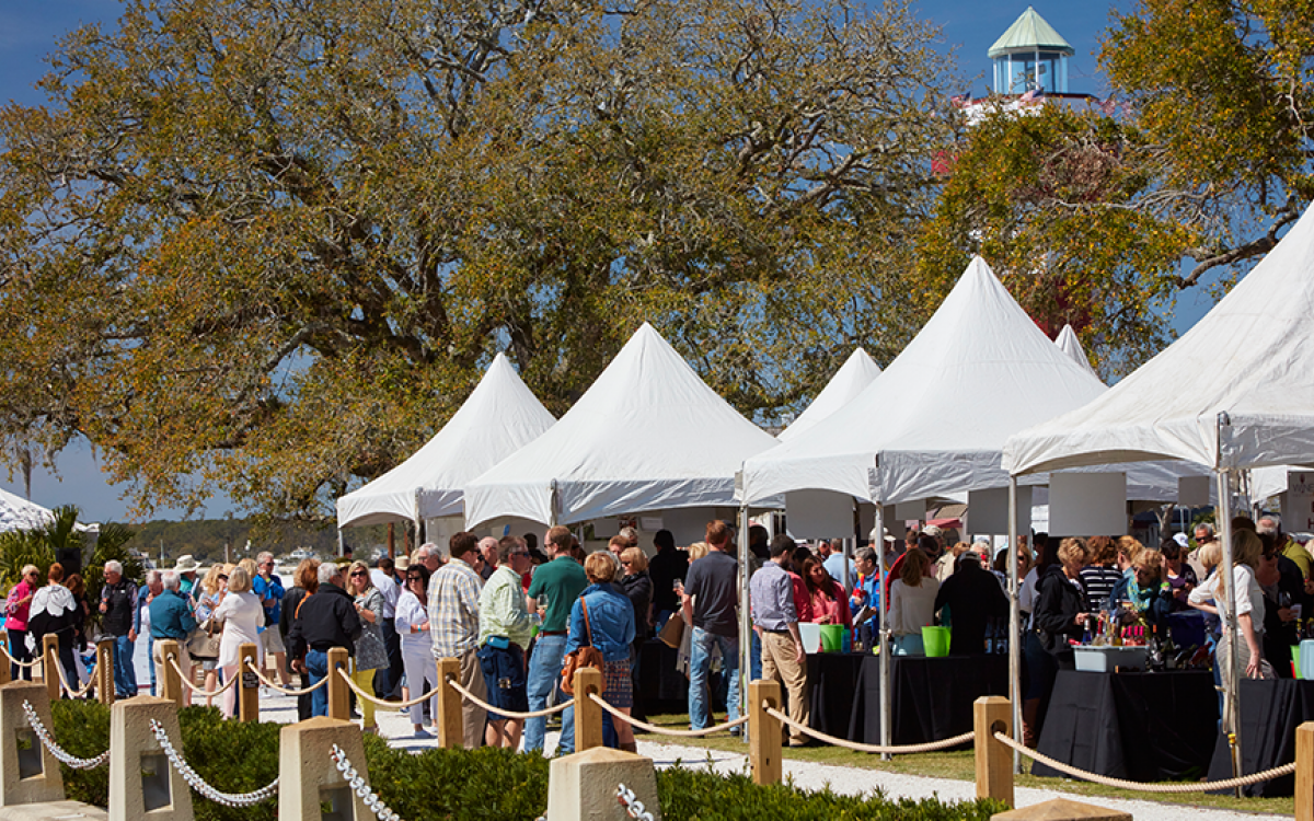 wine and food festival in harbour town