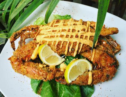 Panko fried blue crab