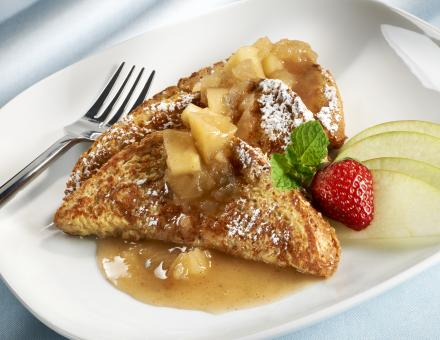 spiked caramel apple french toast