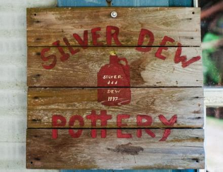 Silver Dew Pottery Sign