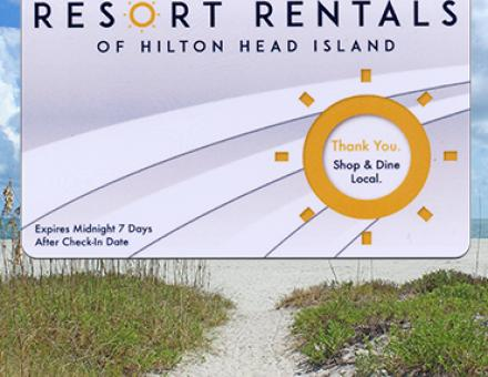 Resort Rentals of Hilton Head Island reward card