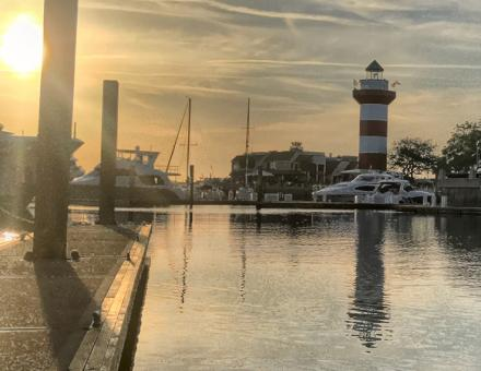 harbour town sunset