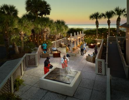 Omni oyster roast outdoor meeting space hilton head island